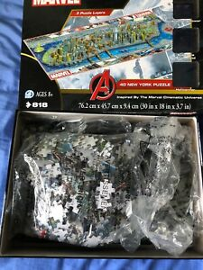 MARVEL AVENGERS Cityscape: New York 4D Jigsaw Puzzle 818 Pieces (8+ Years) Used