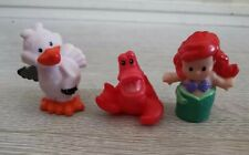 FISHER PRICE DISNEY LITTLE PEOPLE THE LITTLE MERMAID ARIEL FIGURES