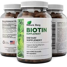 Biotin Supplement for Anti Hair Loss - Best Hair Growth Pills Natural B Vitamin