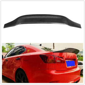 1x Black Rear Carbon Fiber Roof Spoiler Wing Lip For Lexus IS250 IS350 2006-2013