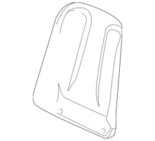 Genuine Mercedes-Benz Seat Back Panel 203-910-20-39-9E26