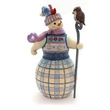 New ListingJim Shore Snowman With Owl Friend 6000672 New Mib
