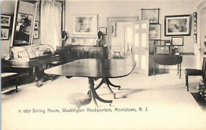Morristown, New Jersey, Washington Headquarters, Dining Room - Postcard (B18)
