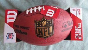 """OFFICIAL WILSON """"THE DUKE"""" NFL GAME FOOTBALL ROGER GOODELL COMMISSIONER"""