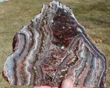 NEW BANDED AMETHYST LACE AGATE SLAB 205 gram rough/specimen/rock/jasper/mineral
