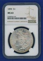1890 P NGC MS63 Morgan Silver Dollar $1 Better Date 1890-P NGC MS-63