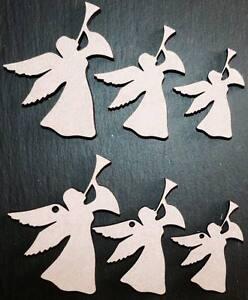 laser cut wooden angels shapes xmas Embellishments mdf Craft 40,50,60,80,100 mm