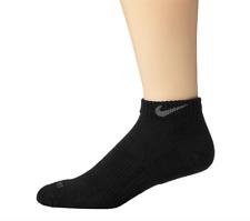 Nike Unisex Black Dri Fit Cushion Low Cut Socks 4909 Size Medium