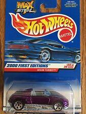 2000 Hot Wheels First Edition #20 MX48 Turbo = purple with 5spoke - RARE - VHTF