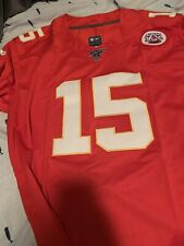 #15 Patrick Mahomes Kansas City Chiefs Men's Stitched Jersey Size Large Red L