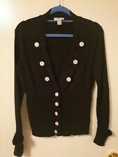 Size 12 Heine Navy Cotton Cardigan With Button Detail