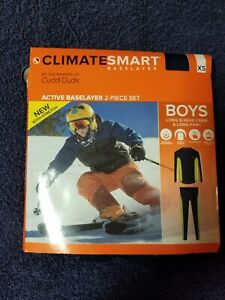 ClimateSmart/Cuddl Duds for Boys Base Layer 2 piece set  NIP