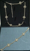 QVC Gold Plated Necklace and Bracelet set Brand New Holiday gift for her