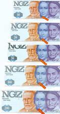 10 DM bis 200 DM  NGZ  DM-Testnotensatz kassenfrisch (5 Werte)