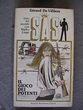 SAS #  49 - GERARD DE VILLIERS - IL GIOCO DEI POTENTI - COPERTINA GUIDO CREPAX
