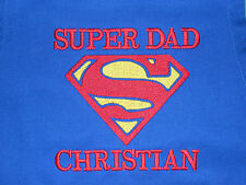 SUPERMAN ROYAL BLUE HEAVY APRON PERSONALIZED DAD FATHER EMBROIDERED UpTo 3 WORDS