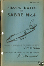 PILOT'S NOTES: SABRE Mk.4 RCAF/US/RAF JET FIGHTER 76pps+FREE 2-10 PAGE INFO PACK