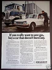 1975 Peugeot diesel Car vintage photo ad