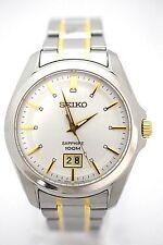 SEIKO Men SUR011P1 White Dial Stainless Steel Bracelet Brand New