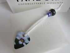 CHARM BRACELET CLASP OPENER TOOL NAIL SAVER WHITE PURPLE FLOWERS
