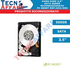 """HDD Hard Disk Interno 3.5"""" 3,5"""" SATA 500GB Ricondizionato Usato Garantito"""