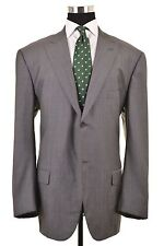 Isaia Napoli Base S Gray Nailhead WOOL SILK Peak Lapel Sport Coat Jacket 62 52 L