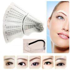 12Pcs Set Eyebrow Grooming Shaping Stencil Kit Brow Template DIY Makeup Shaper