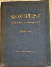 Test proiettivo di personalità Szondi Test- Experimetelle Triebdiagnostik 1965.