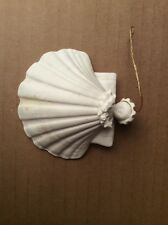 "1983 Margaret Furlong Holly Angel - 3"" Shell Christmas Tree Ornament"