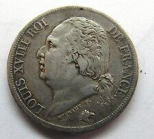 Très belle monnaie - 2 Francs - Louis XVIII - 1823 W - Lille -