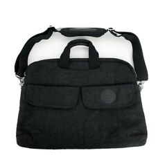 Kipling Black Nylon Large Tote / crossbody Bag W/ Front Pockets Shoulder Pad