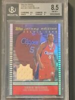 2002-03 Topps Jersey Edition Chris Wilcox RC BGS 8.5 LA Clippers