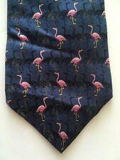 Men/'s Preppy Green with Pink Flamingos Stripe Tropical Novelty Necktie Tie