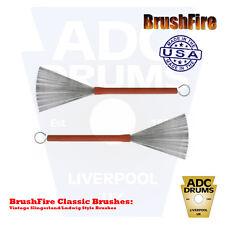 Brushfire Classic .012 Gauge Cavo DRUM JAZZ SPAZZOLE (stile vintage Ludwig Pennello)