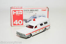 TOMICA TOMY 40 TOYOTA AMBULANCE CAR WHITE MINT BOXED