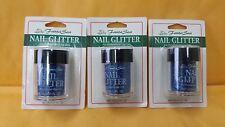 3 Fantasea Nail Art Glitter Blue 10, 6 g / 0.21 fl. oz. New Free Ship