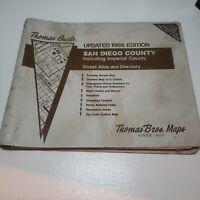 Thomas Guide 1986 San Diego County Imperial Bros Maps street atlas directory vtg