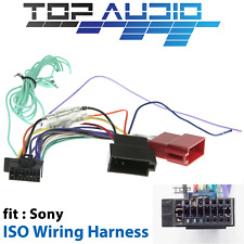 fit SONY XAV-W650BT XAV-W651BT ISO Wiring Harness cable lead loom wire plug