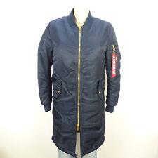 ALPHA INDUSTRIES Mantel Coat Jacke Bomber Blau Navy Gr. XS 34 (BH34)