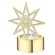 Swarovski Crystal Candle Holder Tea Light Golden Star #5030478 New