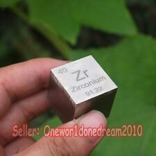 1 Pcs 99.2% Zirconium Zr Metal 1 inch Cube 105.1g Carved Element Periodic Table