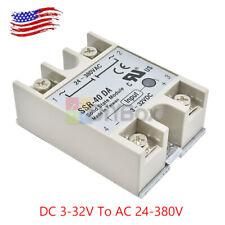 FOTEK SSR-40 DA 40A 250V Solid State Relay Module 3-32V DC to AC24V-380V Relay