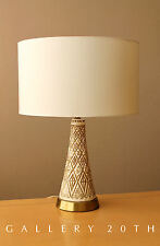 MID CENTURY MODERN CERAMIC TABLE LAMP! VTG 1950'S 1960'S JO WALLIS DESIGN ATOMIC