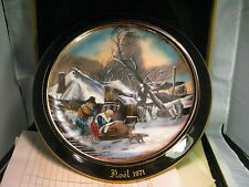 Vintage 1971 Jean-Paul-Loup Christmas Plate, Limoges France, No. 263/300,