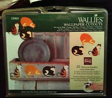 WALLIES CATS wall stickers 25 prepasted decals country kitty kitten decor
