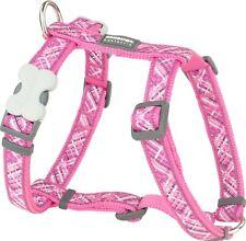 Red Dingo Flanno Design Dog Harness 20 Mm X 36-59 Cm Hot Pink