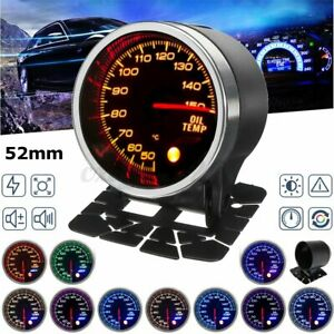 2'' 52mm Car LED Display 50-150℃ Oil Temp Temperature Gauge Meter Sensor 12V  #