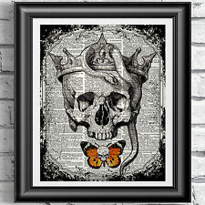 SKULL GOTHIC HORROR KING Anatomical Wall Art Print Picture Poster Dictionary