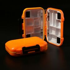 FLY BOX WATERPROOF TERMINAL TACKLE- HARD COVER COMPACT SIZE (ORANGE)