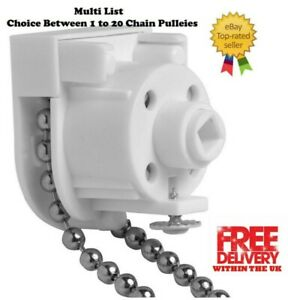 ROMAN BLIND REPLACEMENT CHAIN CONTROL UNIT (CHAIN PULLEY) ,WHITE COLOR SMALL